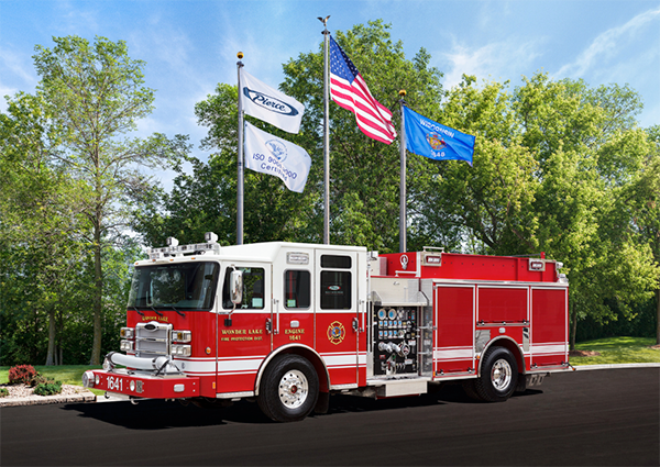 New fire engine for the Wonder Lake Fire Protection District