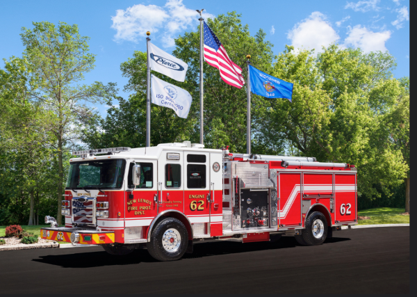 New Lenox FPD fire engine