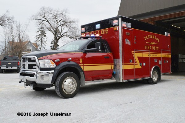 Flossmoor Fire Department ambulance