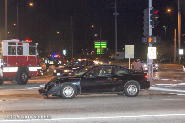 car at crash site