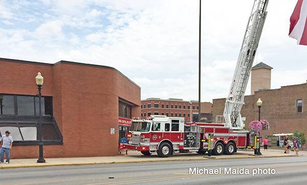 Pierce demo fire truck