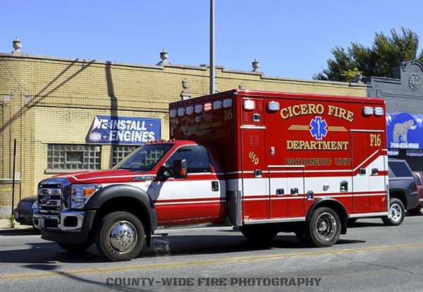 Cicero FD ambulance
