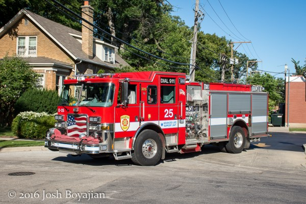 Evanston FD Engine 25