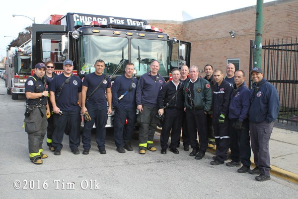 Chicago FD Squad 1 and Squad 2 firefighters