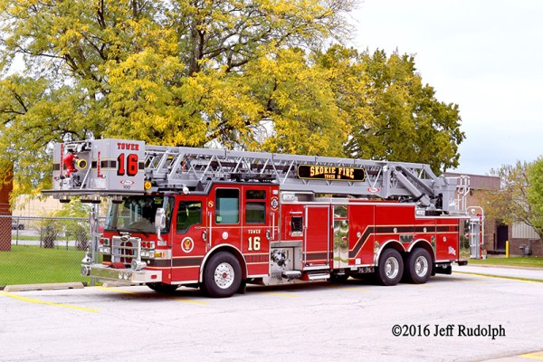 Skokie FD Tower Ladder 16