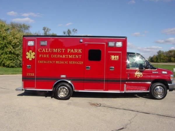new ambulance for Calumet Park FD