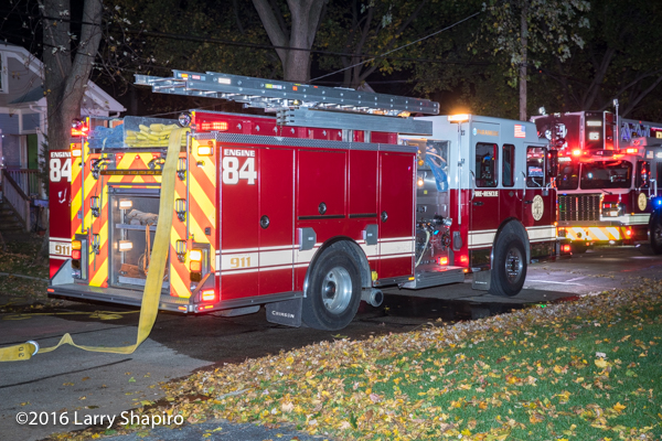 Spartan ERV fire engine at night fire scene