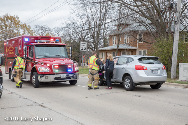 Firefighters assist accident victim