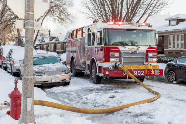 Berwyn FD Pierce Dash CF PUC at a fire