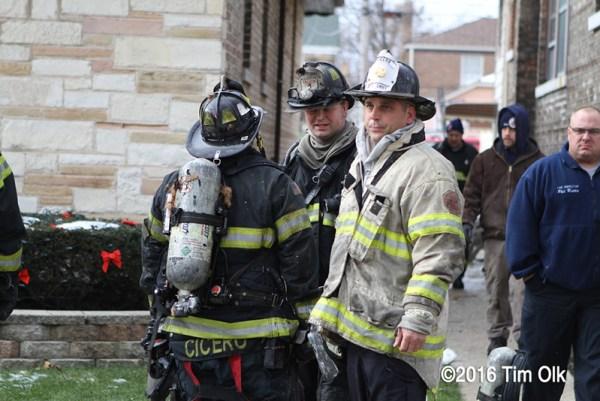 Cicero Firefighters on scene