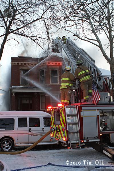 Berwyn firefighters at fire scene