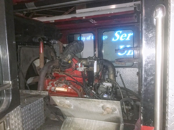 engine repair in the Chicago FD shops