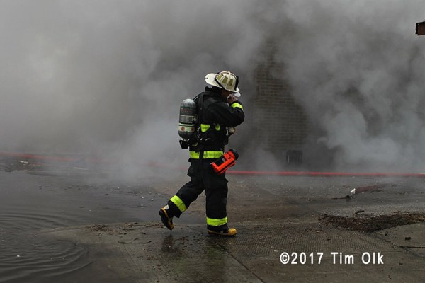 fire chief at smokey building fire