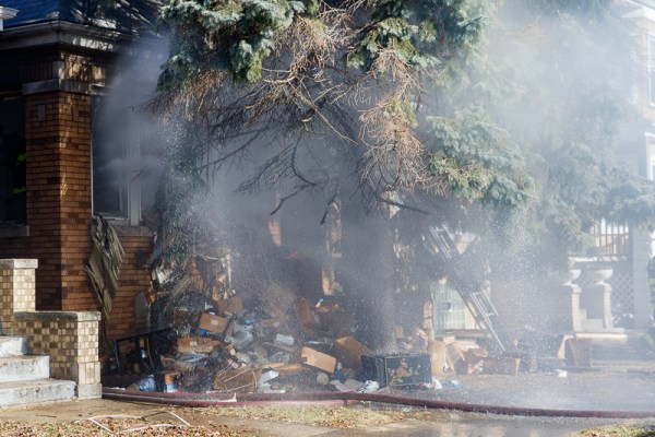 hoarder conditions at house fire
