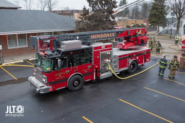 Hinsdale Fire Department tower ladder
