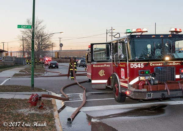 Chicago FD engine on a hydrant