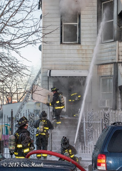fire scene in frigid temperatures