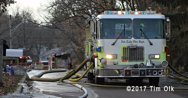 Fox Lake fire engine with lines off