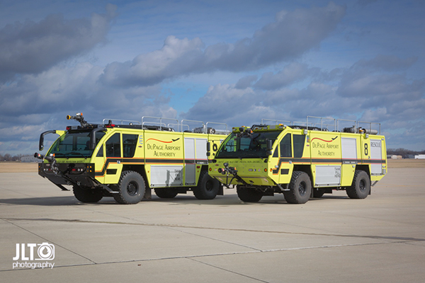 Rosenbauer ARFF trucks at the DuPage Airport