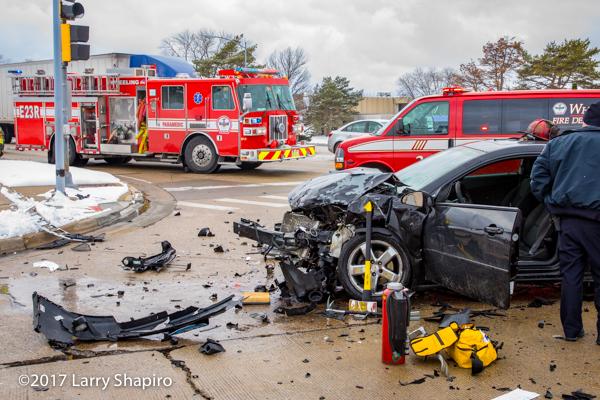 compact car crumpled after crash