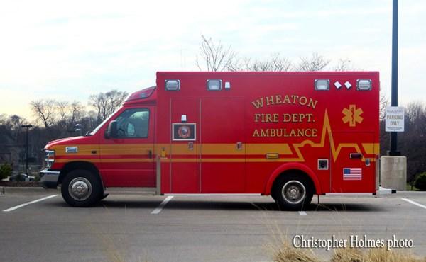 Wheaton FD ambulance