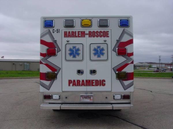 rear of new ambulance