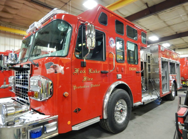 fire truck being built by Alexis