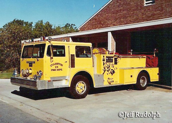 vintage Evanston FD fire engine