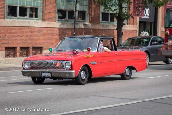 restored Ford Falcon fire chief car