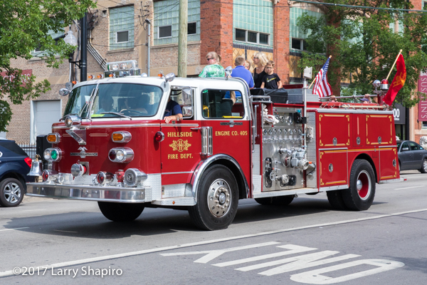 vintage Americal laFrance fire engine from Hillside IL