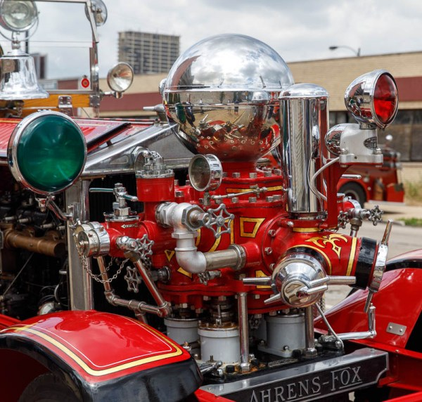 restored 1928 Ahrens Fox fire engine