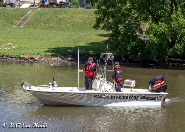 Palos FPD boat and diver rescue
