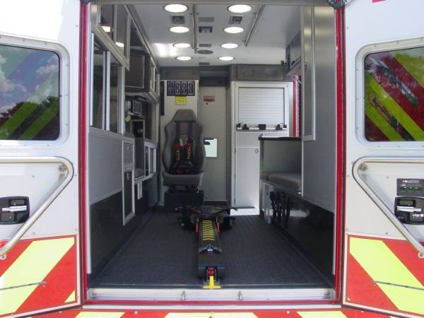 new ambulance interior with Stryker cot mechanism