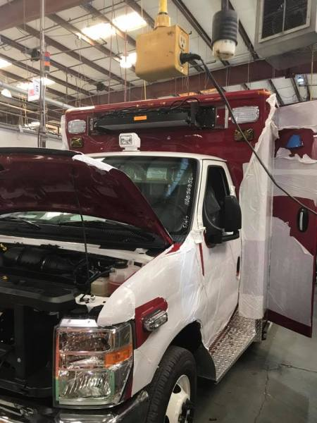 new ambulance under construction