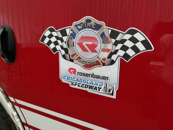 Chicagoland Speedway fire engine decal