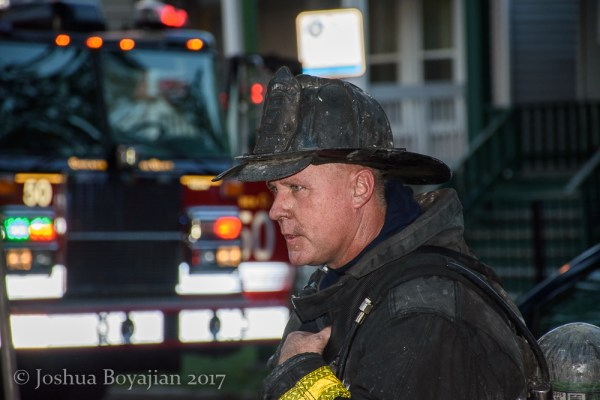 dramatic Chicago Firefighter after a fire
