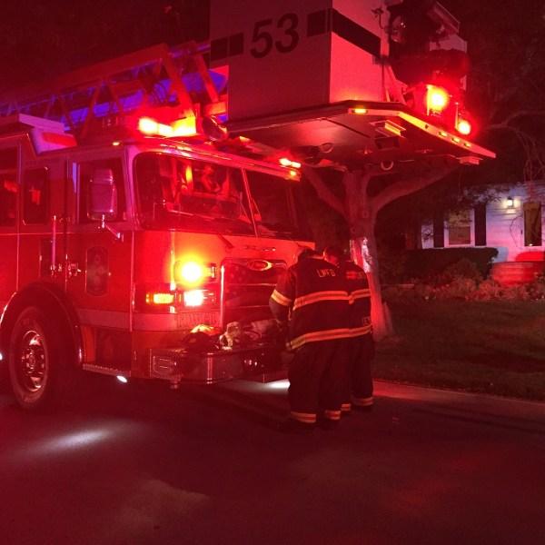 fire truck t night