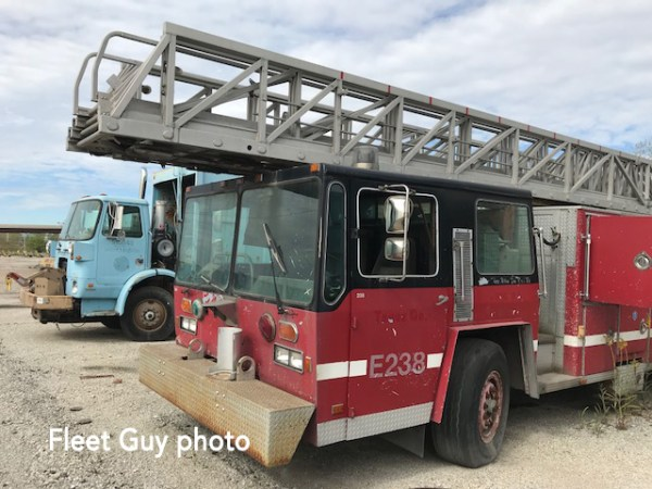 old Chicago FD E-ONE ladder truck for sale at auction