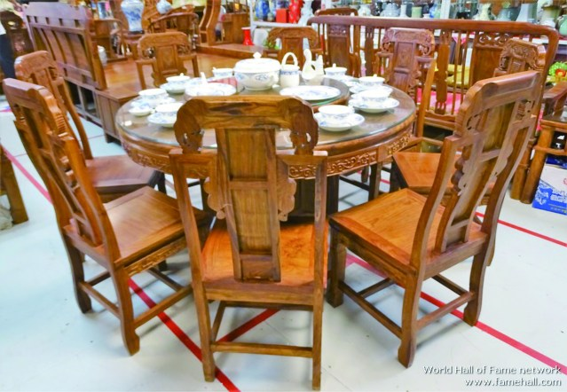 越南黄花梨圆餐桌