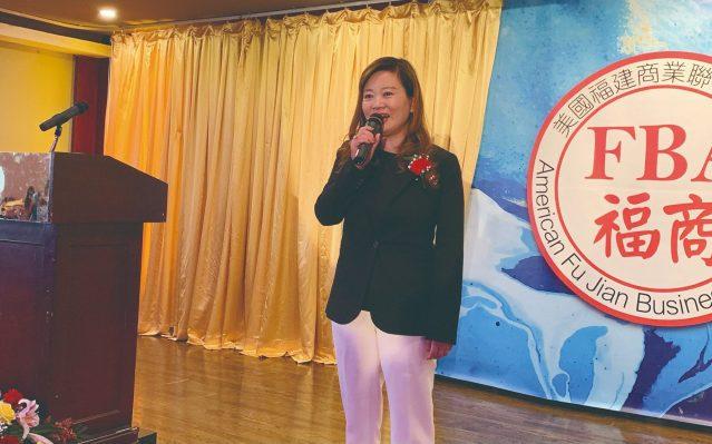 照片八:華聯會主席鄭征致辭