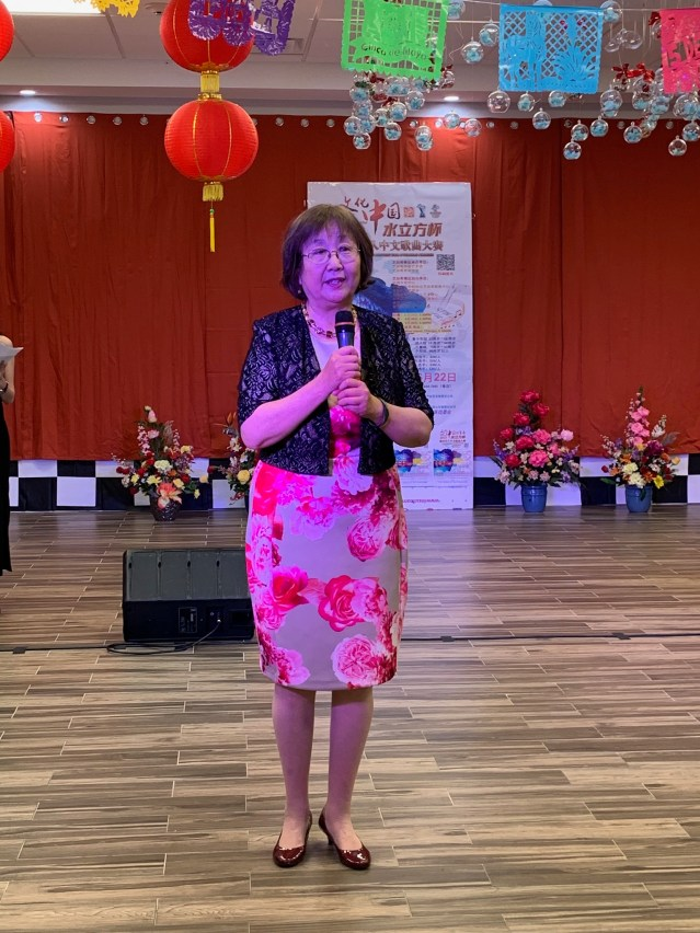 照片八:華星藝術團團長楊八林致辭