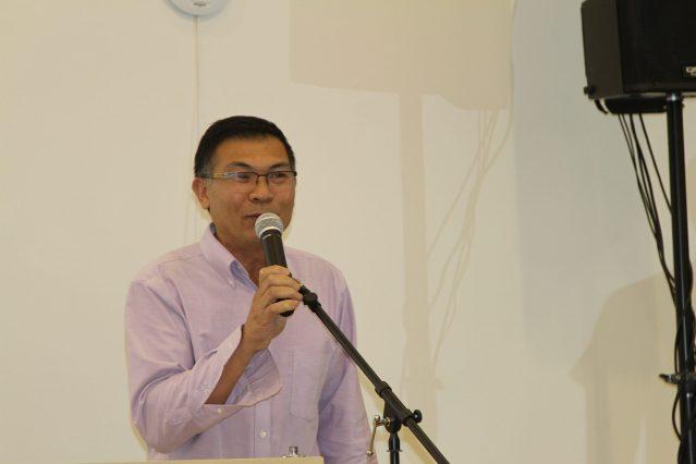 照片三:福建總商會會長鄭時坦表示商會將會積極融入社區提供服務