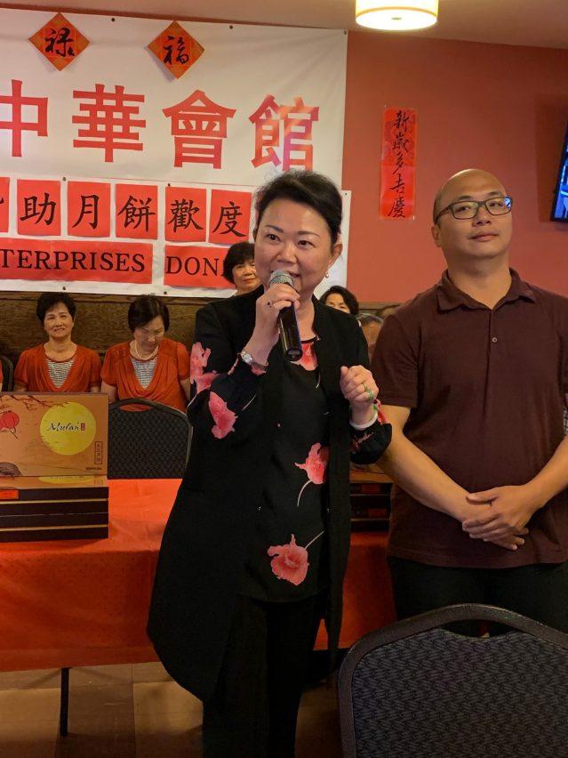 照片二:中華會館主席黃於紋致辭