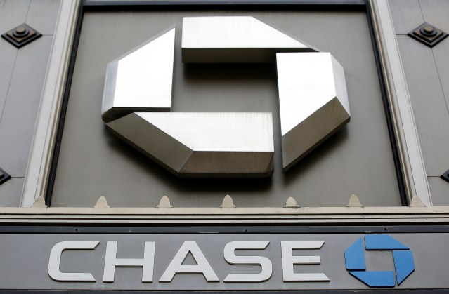 FILE PHOTO: A Chase sign is seen outside a bank in Chicago