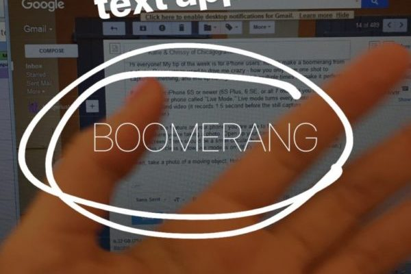 "Tip of the Week: Make an iPhone ""Live"" Picture into a Boomerang"