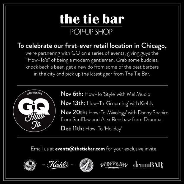 The Tie Bar Pop-up store