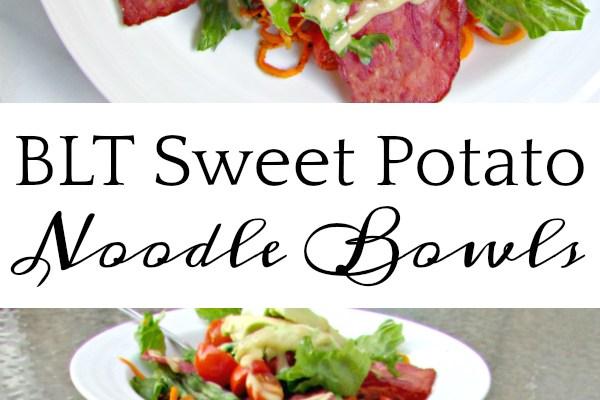 BLT Sweet Potato Noodle Bowls