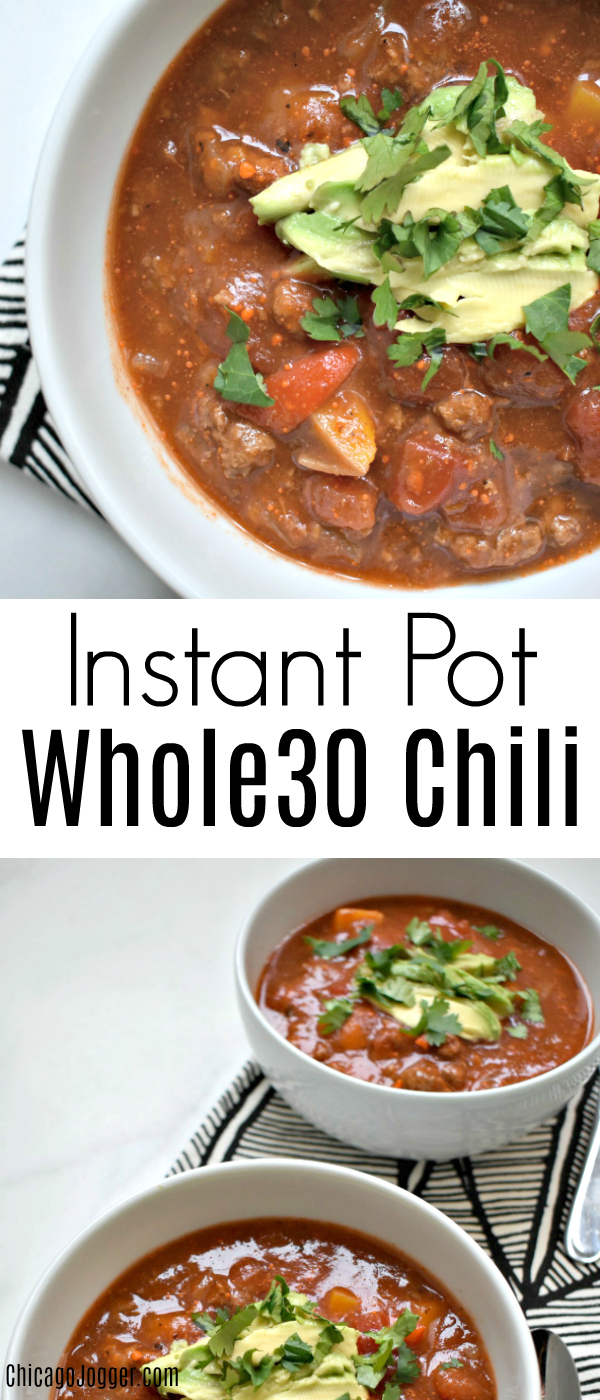Instant Pot Whole30 Chili | Chicago Jogger