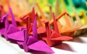 paper cranes for peace