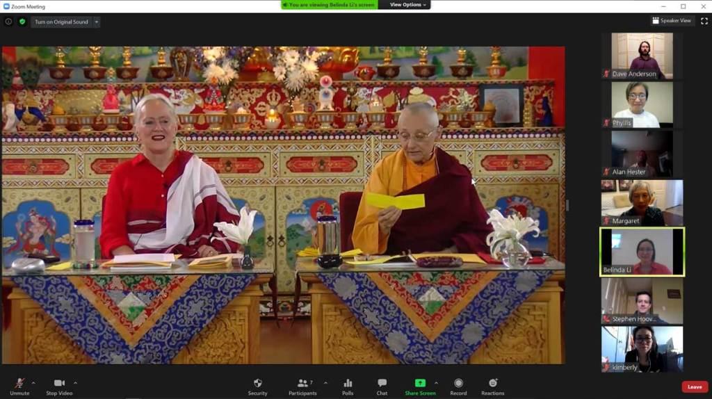 Dharma talk by Lama Tsultrim Allione & Jetsunma Tenzin Palmo